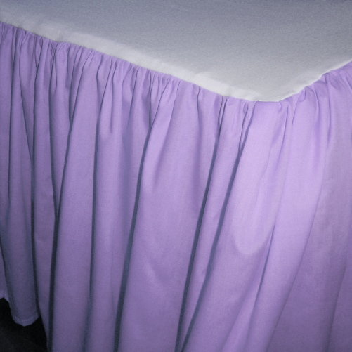 lilac purple bedskirt